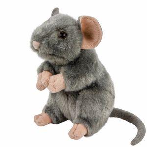 Maus/Ratte aufrecht stehend grau 17 cm