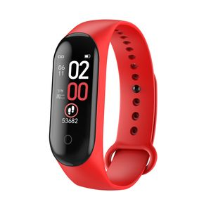 Fitness Smart Armband Wire Band Tracker Smartwatch + Blutdruck Pulsmesser BT 4.0 Herzfrequenz Schwarz