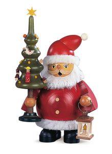 Räucherfigur Räuchermann  klein Weihnachtsmann mit Baum (BxH):13x16cm NEU