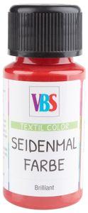 VBS Seidenmalfarbe, 50 ml Karminrot