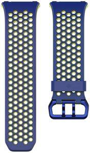 """Fitbit Ionic Accessory Sport Band Blau Gelb """"wie neu"""""""