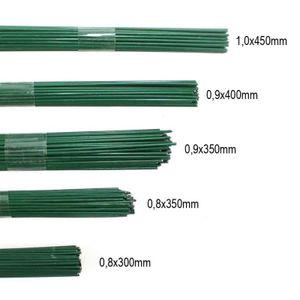 2,5kg Blumendraht grün lackiert Steckdraht Basteldraht Bindedraht alle Größen, Ausf:1.0 x  450mm