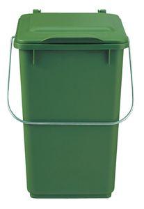 SULO Abfallsammler 10l Kunststoff grün mit Klappdeckel für Bioabfall - 1086550