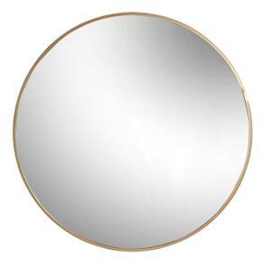 Harbour Housewares Round Gerahmte Wandspiegel - Vintage Art Deco Stil Metallic Vanity Dekoration für Schlafzimmer Flur - 80 cm - Gold