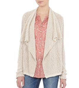 Marc O´Polo Strick-Cardigan verschlusslose Damen Woll-Jacke Beige, Größe:L