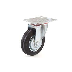 Lenkrolle 100 mm Vollgummirad Stahlfelge Rollenlager