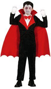 Vampir Kostüm für Kinder Gr. 98-146, Größe:122/128