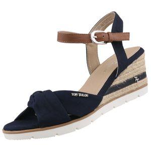 TOM TAILOR Damen Keil-Sandaletten Blau, Schuhgröße:EUR 36