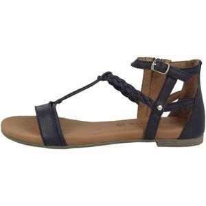 Tamaris Damen Sandalette Sandalen geschlossene Ferse 1-28043-26, Größe:42 EU, Farbe:Blau