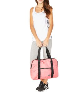 adidas Performance Gym Tote1 Sport-Tasche gestreifte Umhänge-Tasche mit Reißverschluss Pink