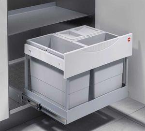 Hailo 3-fach Mülleimer Küche, Einbau 60 cm Schrank, Ausfahrautomatik