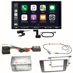 Sony XAV-AX5550D Moniceiver CarPlay DAB+ Einbauset für Skoda Octavia 2 Yeti 5L