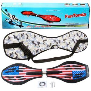 FunTomia® mit LED-Rollen - 1865 - Design Amerika FlaggeWaveboard ORIGINAL