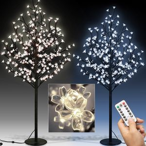 LED Kirschblütenbaum Fernbedienung 8 Modi Timer Außen Innen, Model:M4: 180m - 200 LEDs - blau