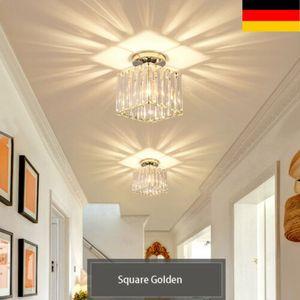 Moderne LED Kristall Deckenleuchte Kronleuchter Deckenbeleuchtung Wohnzimmer Schlafzimmer E27 Ø13.1cm für Esszimmer Bar Cafe