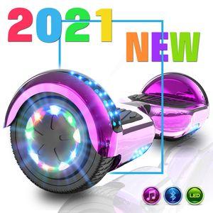 Markboard 6,5 Hoverboard,Self Balance Scooter Elektroroller Elektro Skateboard mit 350W*2 Motorbeleuchtung| RGB LED-Leuchten | Bluetooth-Lautsprecher|chrome rosa