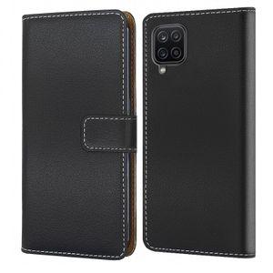 Handytasche für Samsung Galaxy A12 Schutzhülle mit Standfunktion Handyhülle Klapp Tasche Etui mit Kartenfächer Flip Cover