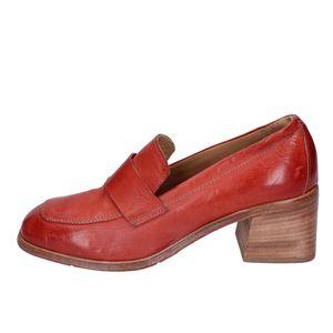 MOMA Mokassins Damen Leder Rot BH274 - Größe: 37