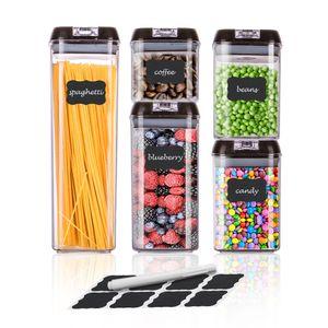 5er Set Frischhaltedosen mit Deckel BPA frei Vorratsdosen Lebensmitteldosen luftdicht Trockenfrüchte Dosen wasserdicht