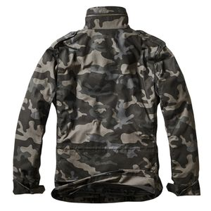 Brandit - M65 Standard Feldjacke Darkcamo, Parka US Style Jacke mit Futter