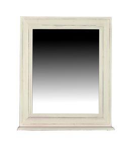 SIT Möbel Wand-Spiegel antikweiß | mit Ablage | Mango-Holz + MDF | B 68 x T 10 x H 79 cm | 06906-10 | Serie TOLEDO