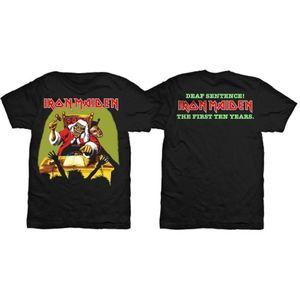 Iron Maiden Deaf Sentence Mens Black TShirt: Small