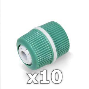 "10 x Berlan 1/2"" Zoll Reparator Schlauchverbinder -GREEN LINE-"