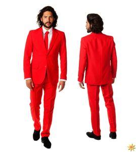 OppoSuits Red Devilherrenkostüm Polyester rot Größe 48