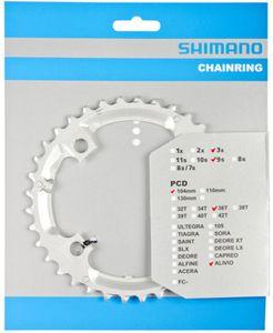 Shimano Alivio FC-M431 Kettenblatt 9-fach silber Ausführung 36 Zähne
