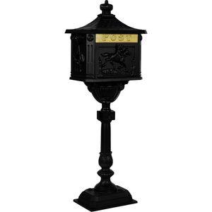 Antiker Standbriefkasten, Briefkasten Alu schwarz
