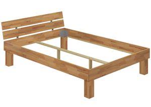 Doppelbett für XXL-Gewicht Buche 140x200 hohes Massivholzbett Seniorenbett 60.81-14oR