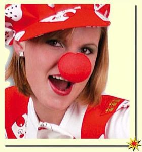 Clownnase, Clown-Nase, Schaumstoffnase rot, Nase Clown