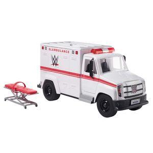 WWE Wrekkin' Slambulance Fahrzeug mit rollenden Rädern und 8+ Teilen