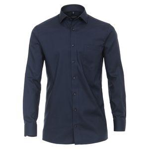 CasaModa XXL Businesshemd Struktur blau bügelfrei, Kragenweite:46