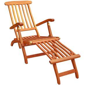 KMH® Hartholz Deckchair (FSC Eukalyptus)