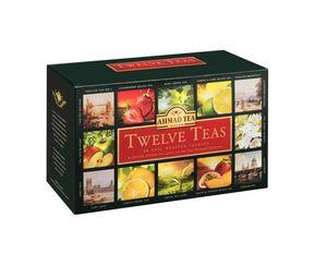 Ahmad Tea- Twelve Tea 12 verschiedene Tee-Sorten in Schwarztee & Grüntee