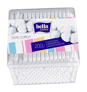 Bella Baumwolle Wattestäbchen Box, 4er Pack (4 x 200 Stück)