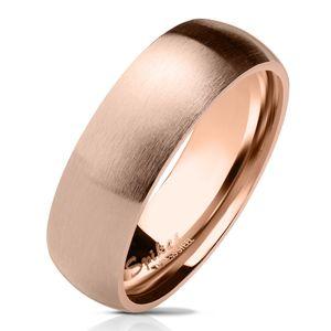viva-adorno Gr. 58 (18,4 mm Ø) Damen & Herren Edelstahl Ring Partnerring Verlobungsring matt poliert rosegold RS57