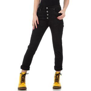 Ital-Design Damen Jeans Boyfriend Jeans Schwarz Gr.30