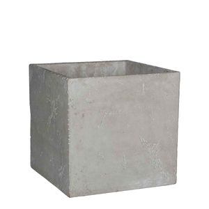 Blumentopf Jimmy Zement quadratisch hell grau - 21 x 21 x 20,5 cm- Pflanzkübel - Übertopf innen & außen