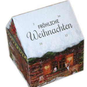 Adventskalender Lebkuchen-Hausform gefüllt LINDT Schokolade 1er Pack (1x 110 g)