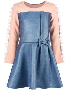 BEZLIT Mädchen Kleid in Jeans-Optik Lachs 110