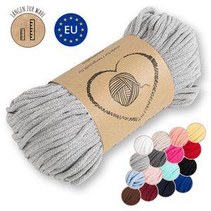 Kordel baumwolle Baumwollkordel 5 mm - Baumwollgarn Baumwollschnur Schnur NATUR GARN deko für makramee 50 Meter HELLGRAU