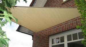 hanSe® Marken Sonnensegel Dreieck 4x4x4 m Sand