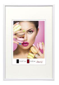 Photo Style Kunststoff Bilderrahmen 20x20 cm bis 50x70 cm DIN A4 A3 Fotorahmen Farbe: Weiß | Format: 50x70