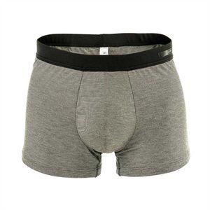 HOM Herren Comfort Boxer Briefs - Gallant, weiche Bambus-Viskose-Short, meliert Grau XL
