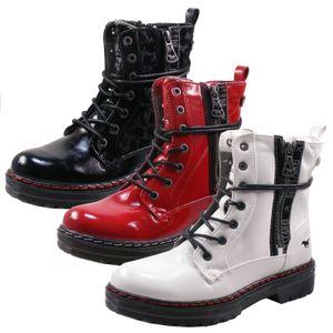 Mustang Damen Schnürstiefelette Combat Boots  1366-501, Größe:41 EU, Farbe:Rot