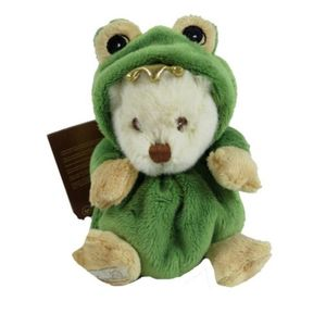 BARBARA BUKOWSKI Verwandlungsbär Teddy FROSCH grün Ziggy 15 cm