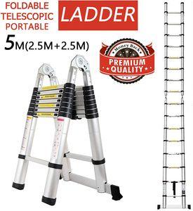 Aluminium 5M Multifunktionsleiter Mehrzweckleiter Gelenkleiter Leiter