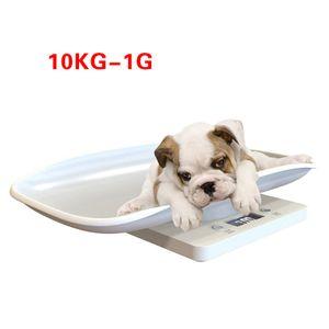 Digitalwaage Babywaage Tierwaage für Baby oder Tiere bis 10kg Weiß Waage Stil